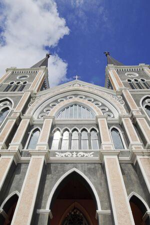 The Most beautiful Catholic Church, Chanthaburi province, Thailand  photo