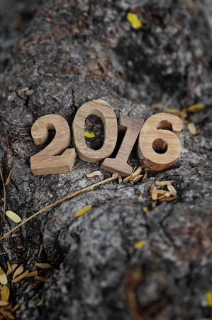 new beginning: New year 2016 wooden numbers style