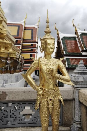 phra si rattana chedi: Wat Phra Kaew or The Emerald Buddha temple have many of the statues and figurines there are characters from the Ramakien