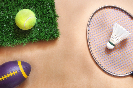 healthiness: Healthiness concept and sports day idea, flat lay in sports project