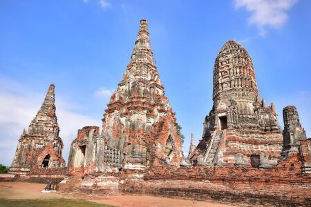 the place is outdoor: Place of worship, Wat Chaiwatthanaram is a Buddhist temples in Phra Nakhon Si Ayutthaya Province, Thailand