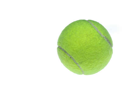 Tennis ball on white background, healthiness concept and sport background idea