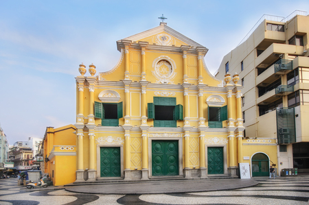 Macau, Peoples Republic of China - October 19, 2012: Church of St. Dominic near the Leal Senado Building Editorial