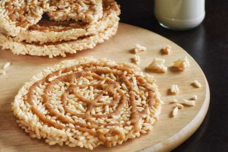 Traditional Thai snack - Rice cracker or Khao Tan
