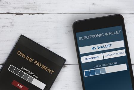 Finance technology concept and payment interface idea Standard-Bild