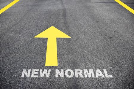 Road to new normal, business challenge concept and keep moving idea