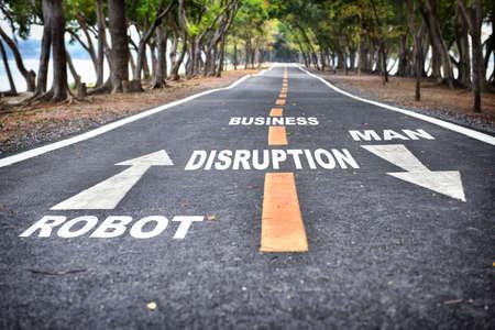 Business disruption challenge concept and survival idea