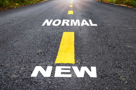 Road to new normal, new normal concept and keep moving idea