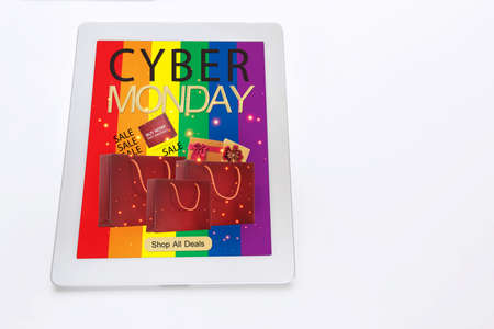 LGBT business online shopping concept and cyber monday sale promotion idea