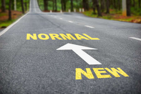 Road to new normal and new normal concept and keep moving idea
