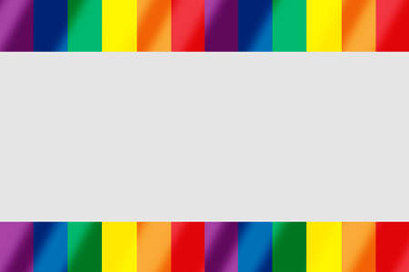 Rainbow flag with gray copy space background. LGBT Lesbian gay bisexual transgender concept and equality diversity idea
