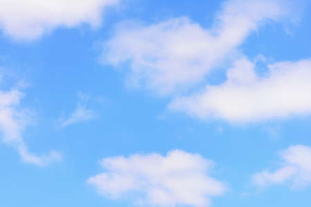 Beautiful blue sky background with fluffy cloud. Natural concept and abstract idea