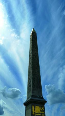 Egyptian Obelisk in the Place de le Concorde.