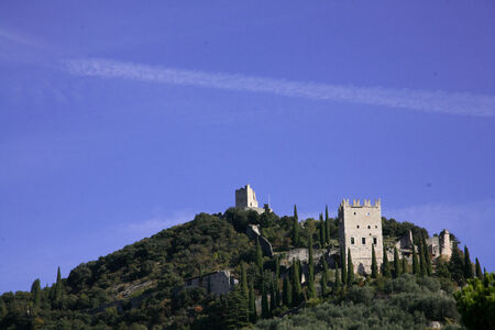 Ruins of a castle in the north of Lake Garda Editorial