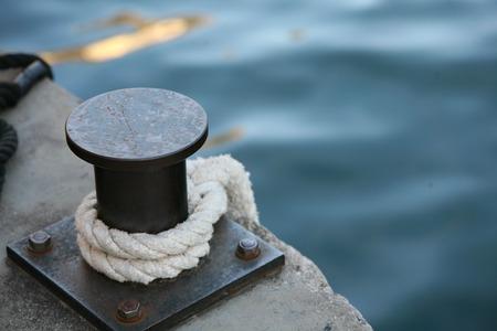 The stillness of the harbor in Lake Garda (Italy) Stock Photo