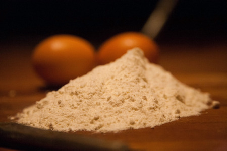 Flour and eggs for another recipe