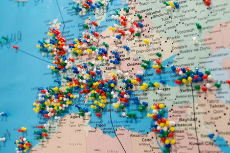 World map europe cities europe map pinpoint marking for your planning to travel trip gumiabroncs Gallery