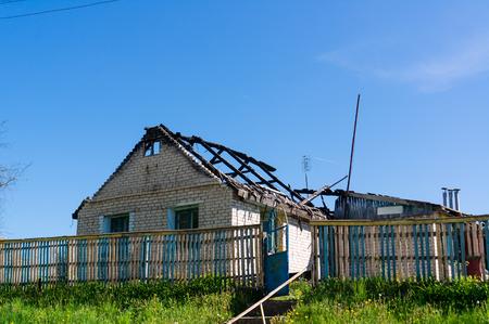 ramshackle old  unfinished house