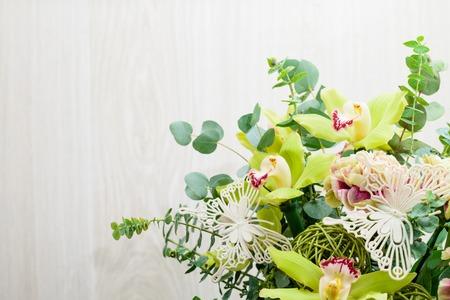 ramo de flores verdes