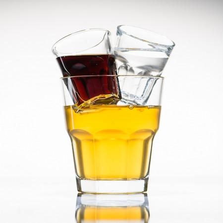 Jager bull cocktail in glass Stockfoto