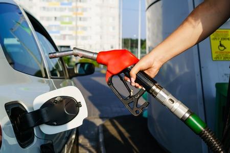 Car refueling on petrol station