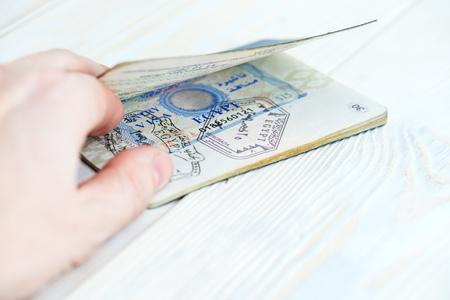 Egypt visa in the passport