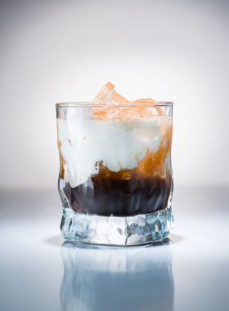 cocktail closeup white Russian Stock Photo