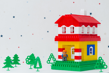 house made of children constructor