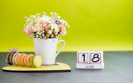 Calendar 18 June Still Life with Flowers and gifts