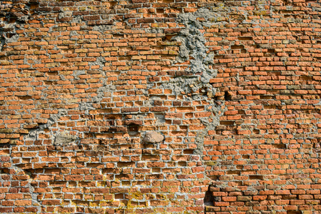 Background of old vintage brick wall, texture Foto de archivo - 105528734