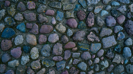 Background of stone wall texture Imagens