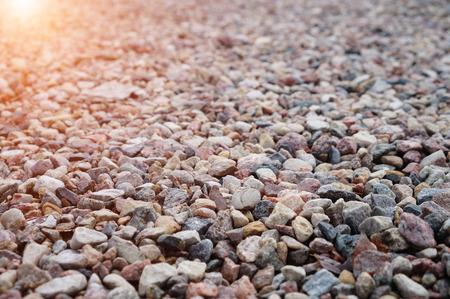 Fine granite at sunset shallow dof Stock Photo