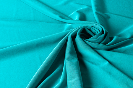 abstract green background texture shiny fabric silk with copy space Stock fotó