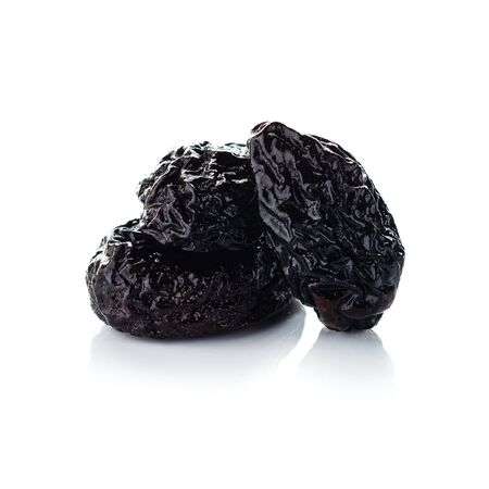 Dried plum on a white