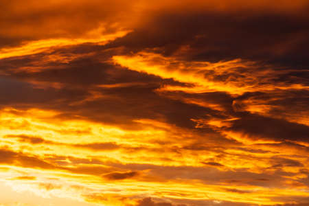 Colorful abstract sky background, red sunset texture