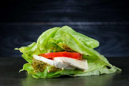 Italian low-carb Caprese salad with Mozzarella Tomato Oregano Black Pepper and Balsamic Vinegar Low Carb Diet