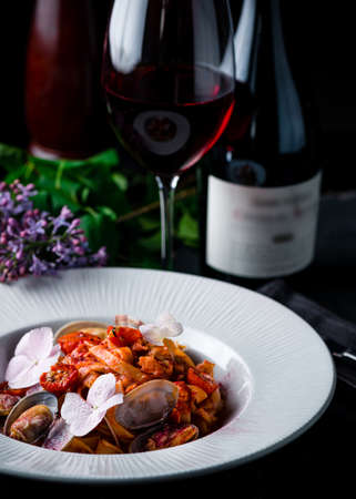 yummy italian pasta with seafood, Italian pasta with seafood Reklamní fotografie