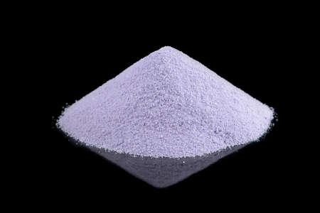 dried soy milk isolated on black background, soy milk powder with reflection Reklamní fotografie