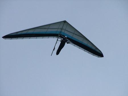 Hang glider blue sky