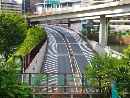 Tokyo expressway ramp 写真素材