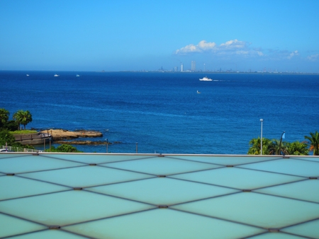 Yokosuka Kanagawa,JapanAug 22,2018:roof top view of Yokosuka Museum of Art