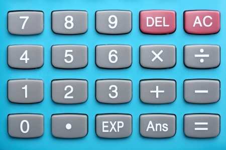 Close up calculator buttons Stock Photo - 16309345