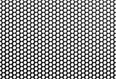 perforated: Close up Iron Perforated Sheet  Stock Photo