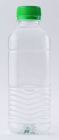 Drinking water in clear bottle isolated on white Stock Photo