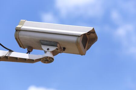 White Closed-circuit television (CCTV, Security Camera) 24 hours watching for security Stock Photo - 16309472