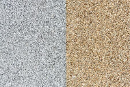 White and yellow Rough gravel floor photo