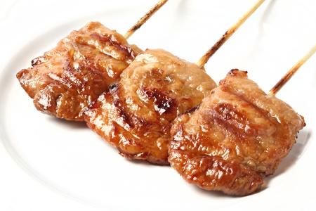 Thai style pork barbecue on white dish Stock Photo - 16723574