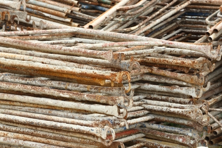 Old and rusty Scaffolding after years of used Stock Photo - 16723606