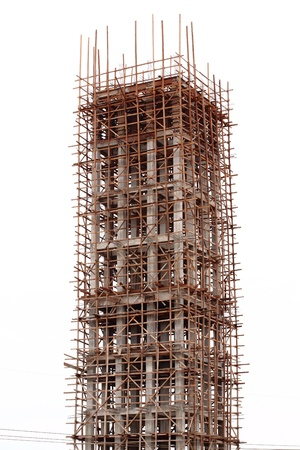 Tower construction in white sky photo