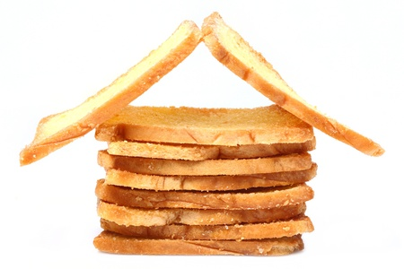 Thai crispy garlic bread arranged look like home Stock Photo - 16829343